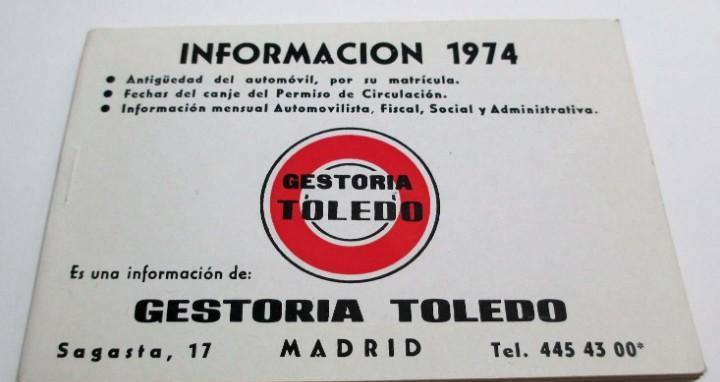 Información - 1974 (gestoría toledo de madrid) antigüedad