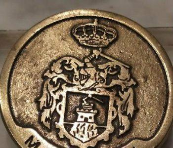 Matricula escudo de mazarrón metálico con enganches para