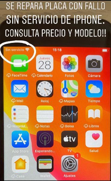 Reparación placa iphone 7 sin servicio