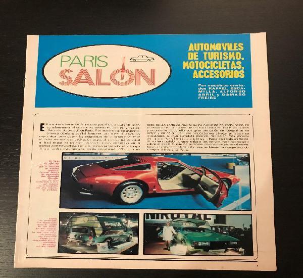 Salon automovil paris 1973 suplemento especial revista