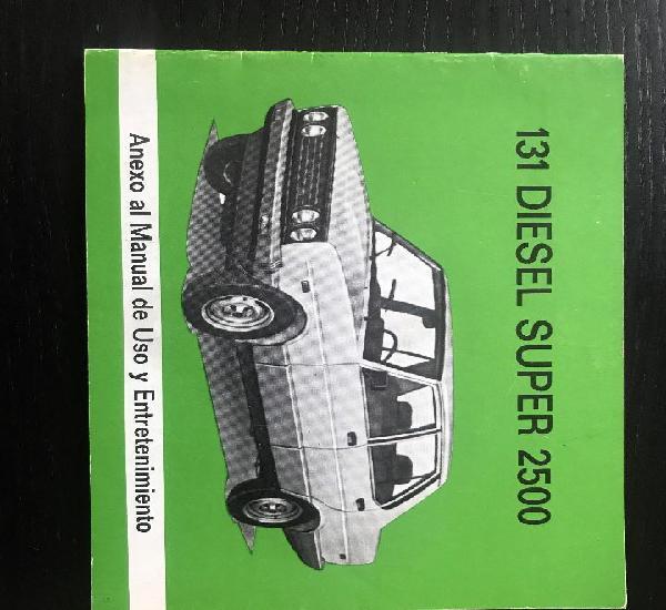 Seat 131 diesel super 2500 mirafiori cl supermirafiori -