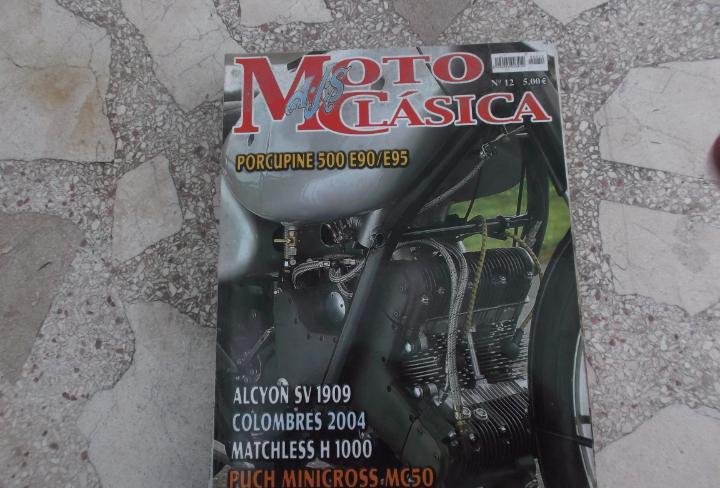 Moto clasica nº 12, porcupine 500 e90/e95, alcyon sv
