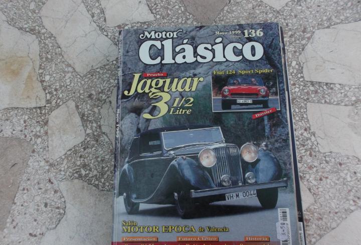 Motor clasico nº 136, jaguar 3 1/2,fiat 124 sport spider,