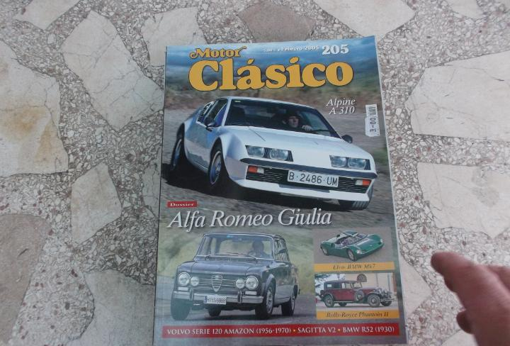 Motor clasico nº 205, alfa romeo giulia, bmw elva mk7,