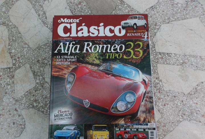 Motor clasico nº 285, alfa romeo 33, matra djet, siata