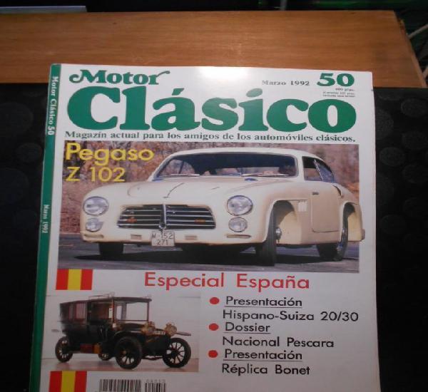 Revista coche motor clasico 50 pegaso z 102 hispano suiza