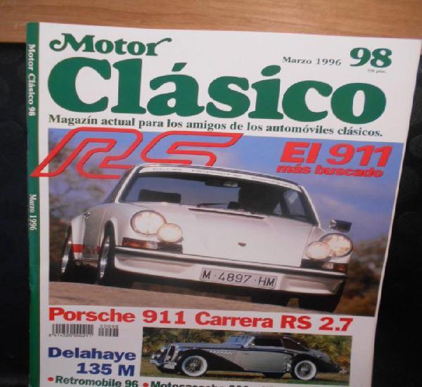 Revista coche motor clasico 98 porsche 911 carrera rs 2.7