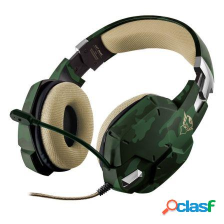 Auriculares con microfono trust gaming gxt 322c verde camuflaje - mand