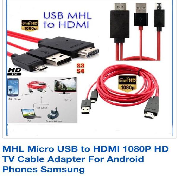 Cable adapter 3.0 mhl micro usb to hdmi / samsung
