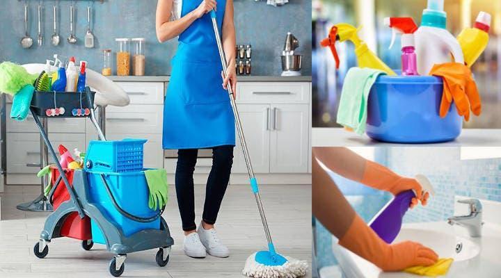 Chica joven para limpieza