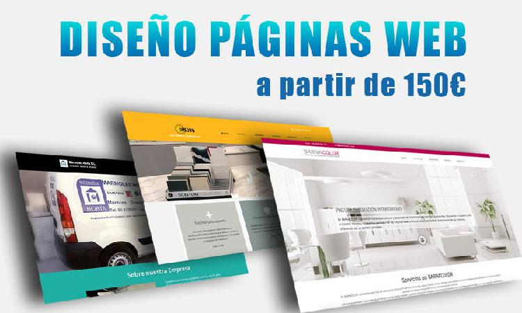 Diseño páginas web económico para empresas