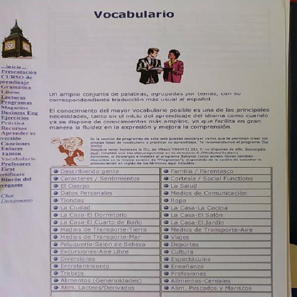 Libro vocabulario + ejercicios gramática inglés