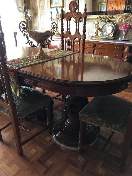 Mesa comedor madera y 6 sillas