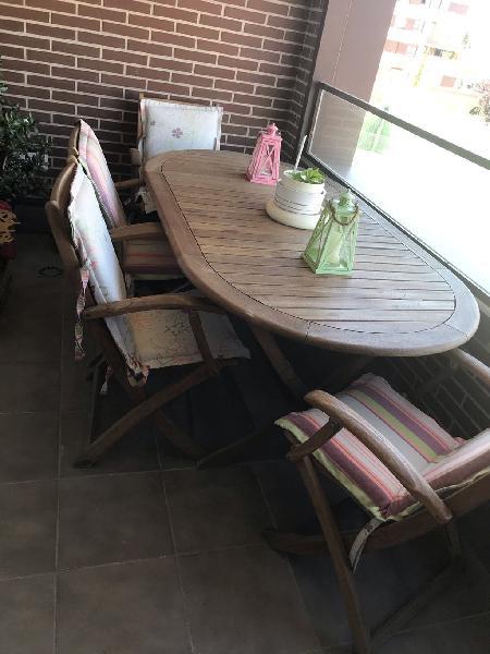 Mesa y sillas jardín - terraza