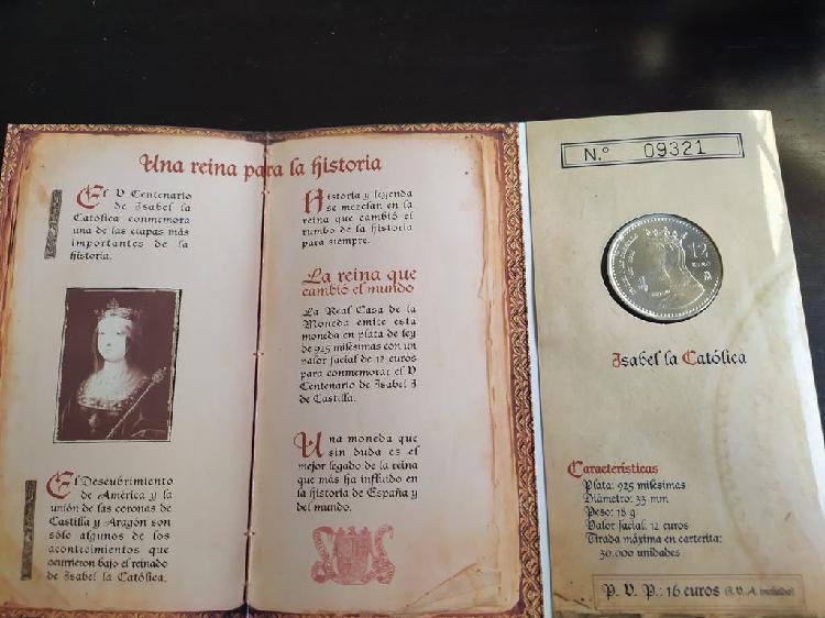 Moneda de plata en cartera 2004 isabel la católica