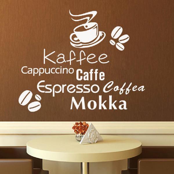 Nuevo!! vinilo de pared cafe