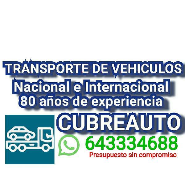 Transporte de vehiculos nacional e internacional