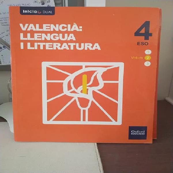 Volumen 2 y 3 valencià: lengua y literatura 4 eso