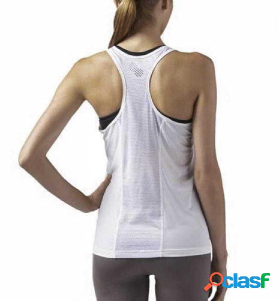 Tank fitness reebok re ac tank blanco l