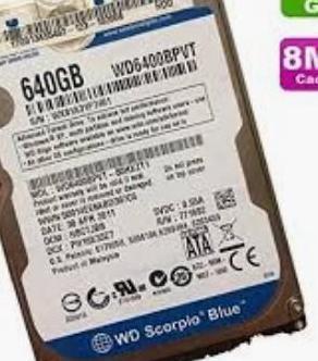 Disco duro para portátiles wd 640gb sata