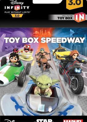 Disney infinity 3.0 qaz000003. caja de juego de carreras.