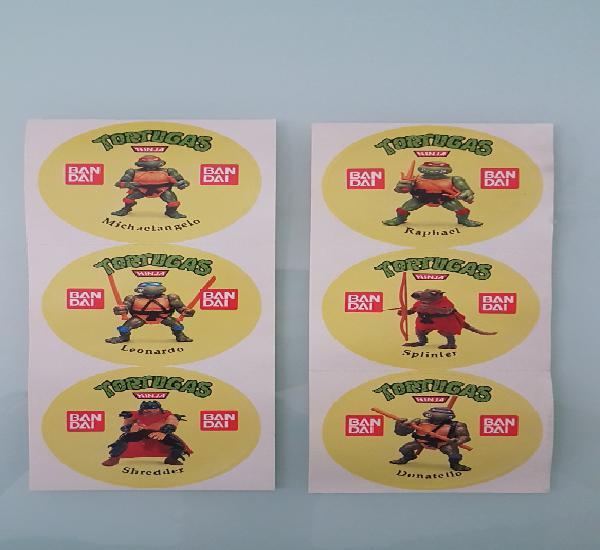 Increible colección completa pegatinas tortugas ninja