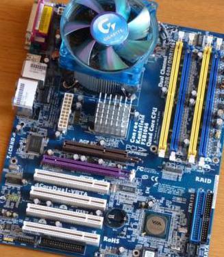 Placa con micro Pentium D920 y disipador