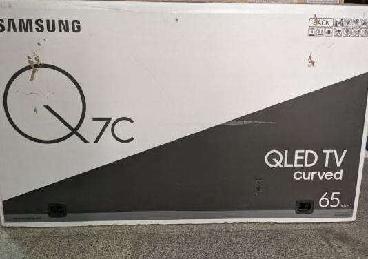 "Tv samsung 65"" qled q7c curva hdr1500 4k uhd"
