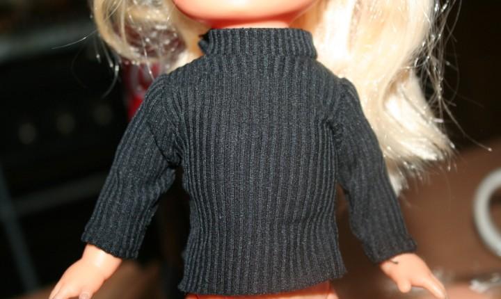 Jersey negro original muñeca lesly