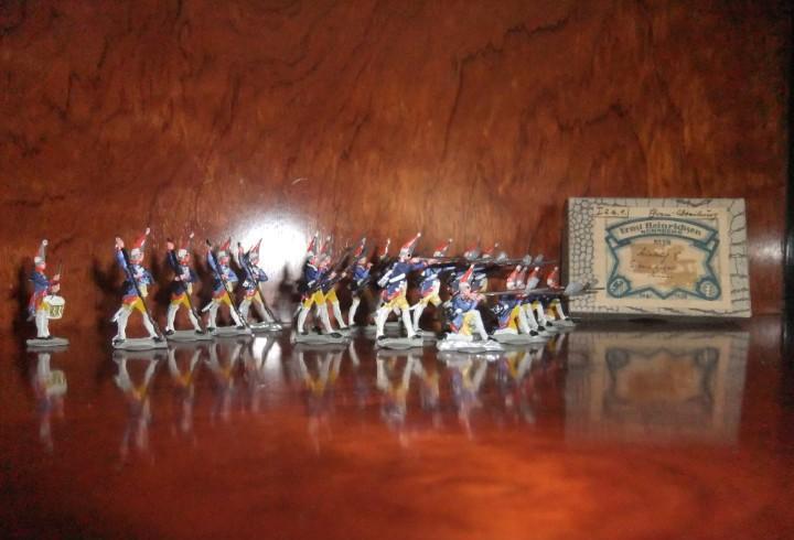 Antiguo grupo de combate de granaderos prusianos hacia 1756