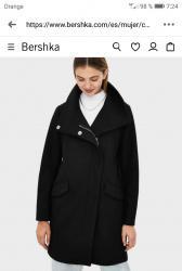 Abrigo negro a estrenar bershka