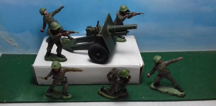 Britains khaki infantry made in england 6 in 6 poses with 25