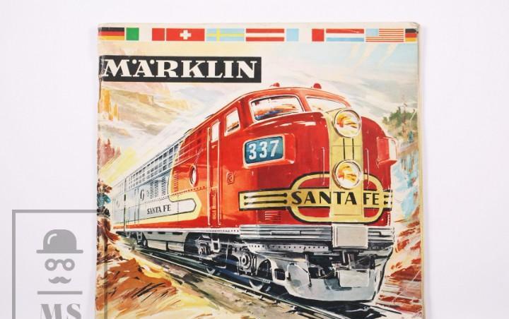 Catálogo de maquetas de trenes marklin en alemán - año