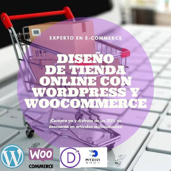 Diseño tienda online con wordpress y woocommerce