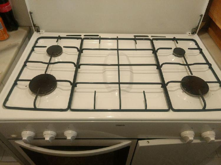 Encimera zanussi de gas (4 fuegos con horno)