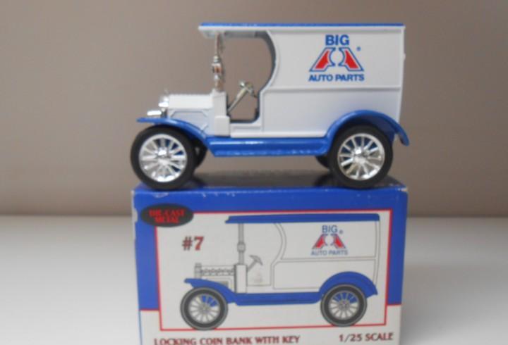 Hucha ertl 1912 delivery car bank hucha big auto parts usa