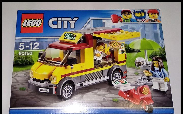 Lego city, vehículo de venta de pizzas, 60150, nuevo y