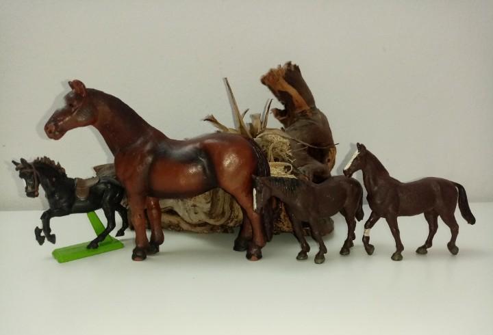 Lote de caballos varias marcas schleich-britains