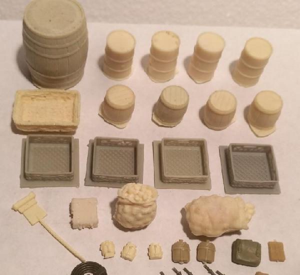 Lote accesorios de resina 1/35 para diorama