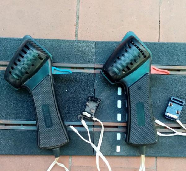 Mandos scalextric - dos mandos - azul y rojo