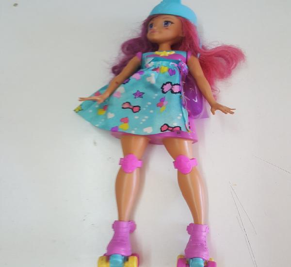 Muñeca barbie patinadora mattel 2015 con luces y sonidos