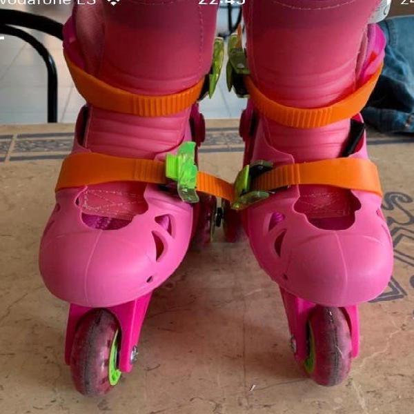 Patines juguettos rosas