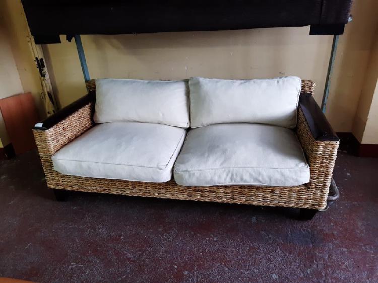 Sofa de ratan 3 plazas