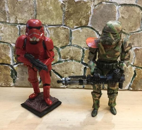 Star wars. lote de dos strontroper. hechos a mano 15 cms