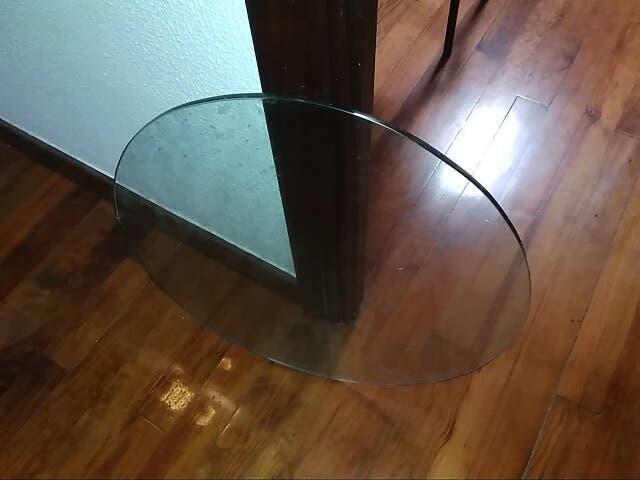 Tablero de cristal: redondo