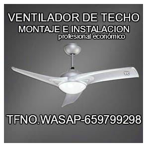 Ventilador techo - montaje e instalacion segura