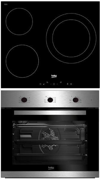 Beko bse22121x - conjunto de horno y placa vitrocerámica