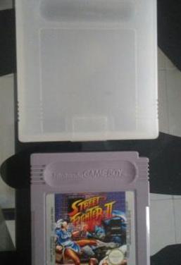 Juego original street fighter caja game boy