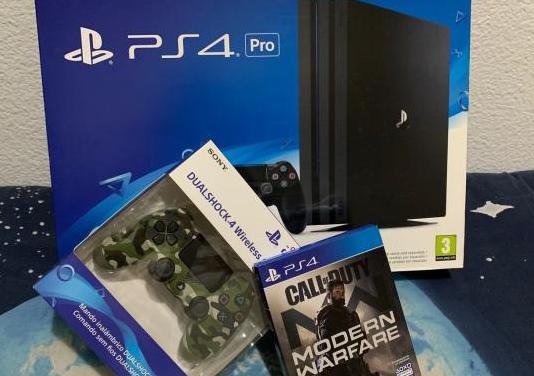 Playstation 4 pro (1tb), mando y juego