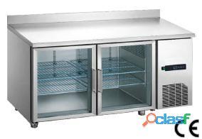Frente mostrador refrigerado 2 puertas cristal en acero inox.. 1.105 €..